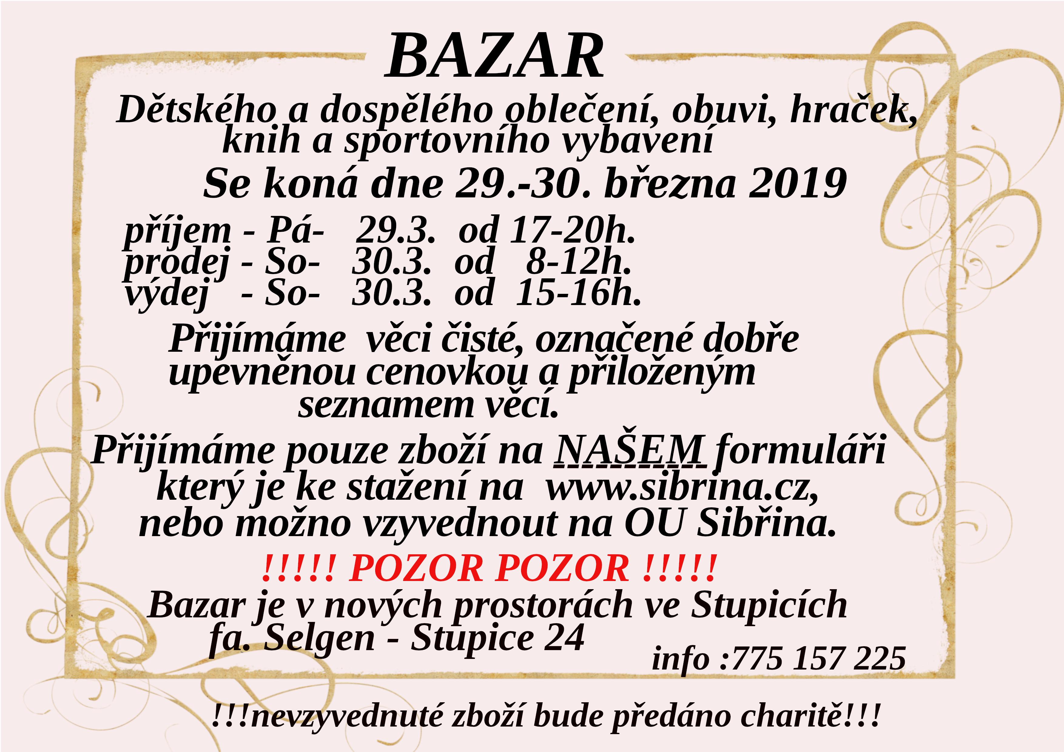 929367783fad Aktuality - Bazar dětského a dospělého oblečení